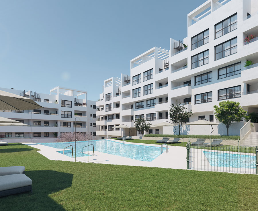 1, 2, 3 and 4 bedroom apartments in Estepona Center
