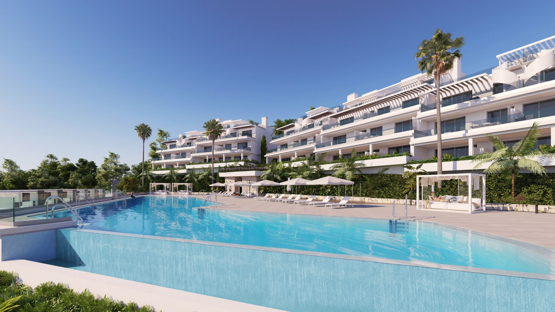 2 & 3 Bedrooms with stunning seaviews in the New Golden Mile, Estepona
