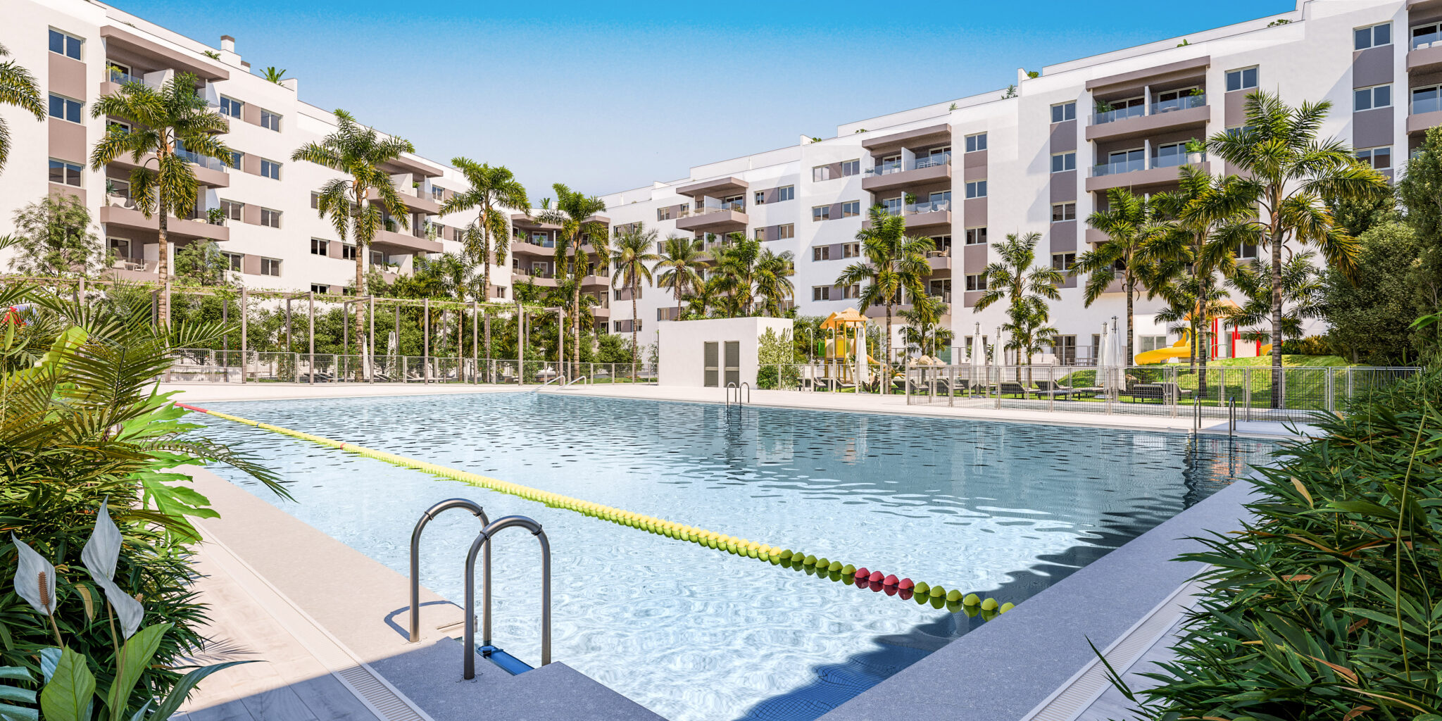 1,2,3 NEW Bedrooms apartments with parking space in Mijas